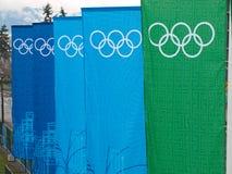 2010副横幅奥林匹克温哥华 库存照片