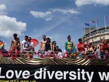 2010天同性恋游行自豪感 库存照片