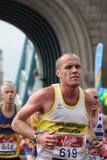2010年伦敦马拉松 库存照片