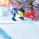 2010年冠军交叉最终雪板世界 库存照片