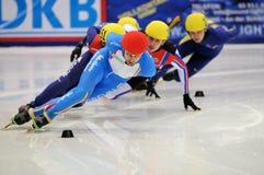 2010年冠军欧洲短的跟踪 免版税库存照片