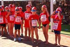 2010年南非洲的ironkids 免版税库存图片
