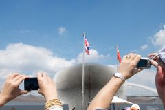 2010年商展对访问世界的被留下的月一 免版税图库摄影