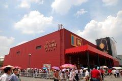 2010年商展lanka亭子上海sri 免版税库存照片