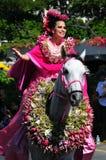 2010年喂节日夏威夷人公主 库存照片