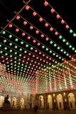2010年圣诞灯都灵 库存图片
