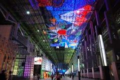 2010年城市商展导致上海 库存图片