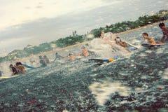 2010年巴厘岛狂欢节kuta桨和平 库存照片