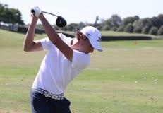2010年开放本杰明法国高尔夫球的hebert 库存照片