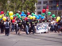 2010年弗朗西斯科・ google游行自豪感圣小组 免版税图库摄影