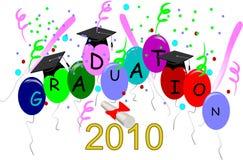 2010年毕业 免版税库存照片