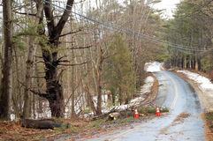 2010年汉普郡新的风暴冬天 免版税库存照片