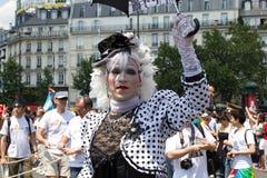 2010年法国快乐巴黎自豪感 库存照片