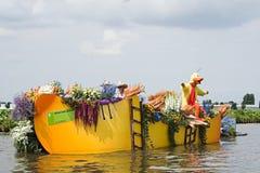 2010年浮动的花游行westland 免版税库存照片