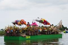 2010年浮动的花游行westland 免版税图库摄影