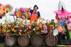 2010年浮动的花游行westland 图库摄影