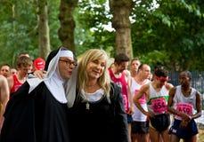 2010年海伦lederer自豪感运行 库存照片