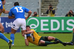 2010年澳洲意大利符合橄榄球测试与 库存图片