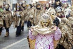 2010年狂欢节2月法兰克福游行街道 免版税库存图片