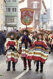 2010年狂欢节2月法兰克福游行街道 库存照片