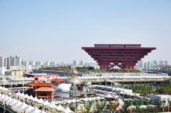 2010年瓷商展亭子上海 库存图片