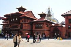 2010年瓷商展尼泊尔亭子上海 库存照片