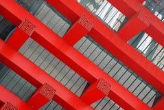 2010年瓷壁角商展亭子屋顶上海 库存照片
