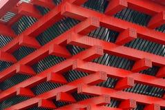 2010年瓷壁角商展亭子屋顶上海 免版税库存照片