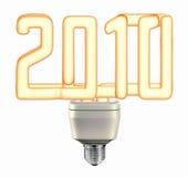 2010年电灯泡能源光节省额 库存例证