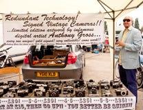 2010年艺术启动砖汽车公平的运输路线ߪ 库存照片