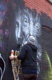 2010年街道画堵塞伦敦 免版税库存图片
