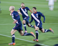 2010年调平的fifa目标计分美国wc 库存照片
