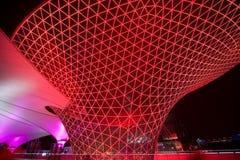 2010年轴商展晚上上海Sun Valley 库存照片