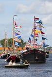 2010年阿姆斯特丹游行风帆 免版税图库摄影