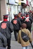 2010年陆军克劳斯游行救世圣诞老人多&#2026 图库摄影