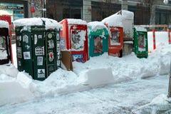 2010年飞雪纽约 免版税库存图片