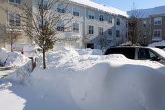 2010年飞雪车道2月马里兰 图库摄影