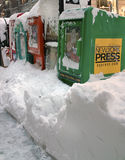 2010年飞雪12月纽约 免版税库存图片