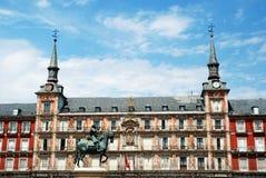 2010年马德里市长广场西班牙广场 库存照片