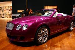 2010年bentley大陆日内瓦汽车展示会 库存照片