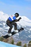 2010年boivin交叉杯子francois雪板世界 免版税库存照片