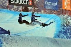 2010年caduff交叉杯子reichen雪板世界 免版税库存图片