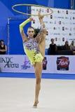 2010年charkashyna体操运动员liubou pesaro节奏性wc 库存照片