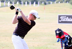 2010年dyson法国高尔夫球开放西蒙 库存照片
