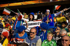 2010年fifa意大利足球支持者wc 库存图片