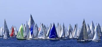 2010年millevele赛船会风帆 免版税库存照片