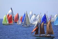 2010年millevele赛船会风帆 库存图片