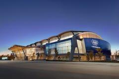 2010张奥林匹克卵形里士满滑冰的速度 库存照片