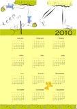 2010日历儿童行程 库存照片