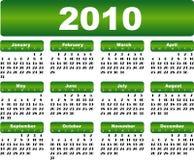 2010日历 免版税库存图片